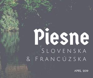 piesne slovenska francúzska